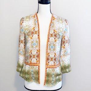 Blank London Open front embellished jacket XS